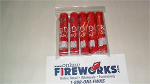 RED Colored Smoke Canister Tubes Fountain 1 Pack of 5 All Red Smoke