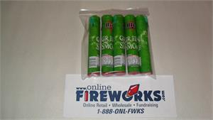GREEN Colored Smoke Canister Tubes Fountain 1 Pack of 5 All Green Smoke